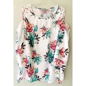 JM Collection Floral Top